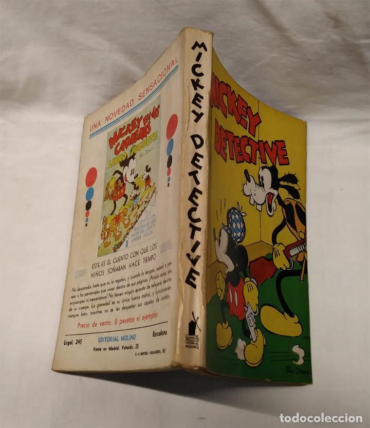 Tebeos: Mickey Detective Walt Disney año 1934. Editorial Molino, tapa rustica 160 pag. - Foto 2 - 193960978