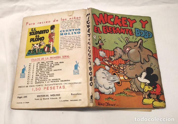 Tebeos: Mickey y el elefante Bobo Walt Disney año 1936. Editorial Molino, tapa rustica 160 pag. - Foto 2 - 193961105