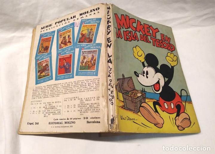 Tebeos: Mickey en la Isla del Tesoro Walt Disney año 1934. Editorial Molino, tapa rustica 160 pag. - Foto 2 - 193961187