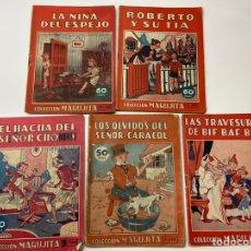 Tebeos: 5 LIBROS COLECCIÓN MARUJITA - NIÑA ESPEJO Y 4 MÁS. Lote 202821222