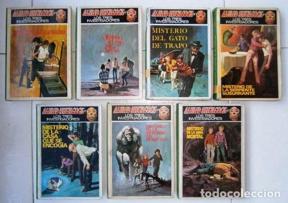 COLECCIÓN 7 LIBROS DE MISTERIO JUVENIL / ALFRED HITCHCOCK Y LOS TRES INVESTIGADORES / ED. MOLINO (Tebeos y Comics - Molino)