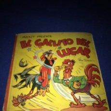 Tebeos: MICKEY PRESENTA EL GALLITO DEL LUGAR. ILUSTRACIÓN SORPRESA. WALT DISNEY. MOLINO 1949. MBE. MUY RARO.. Lote 211502502