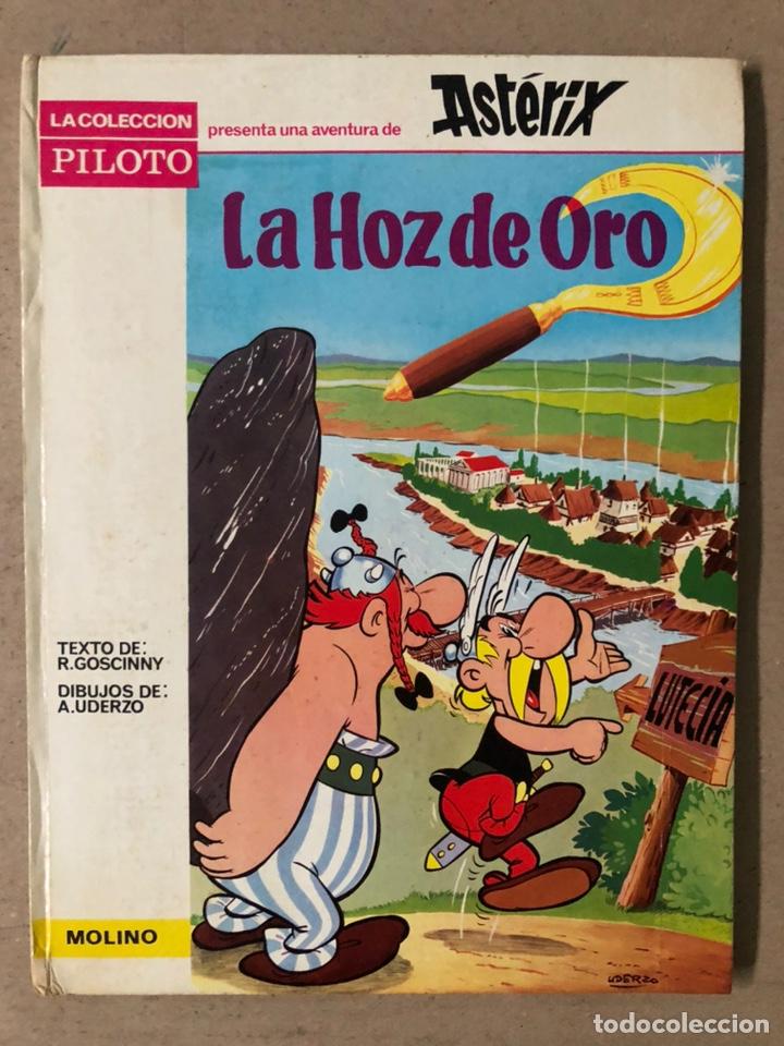 ASTERIX. LA HOZ DE ORO. UDERZO Y GOSCINNY. EDITORIAL MOLINO 1966. (Tebeos y Comics - Molino)