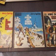 Tebeos: JERRY SPRING - EL PASO DE LOS INDIOS, LA PISTA DEL GRAN NORTE, EL AMO DE LA SIERRA - MOLINO -PILOTO. Lote 213782681