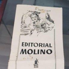 BDs: ANTIGUO CATALOGO EDITORIAL MOLINO 1952 LIBROS INFANTILES BIBLIOTECA ORO HOMBRES AUDACES ETC. Lote 223069787