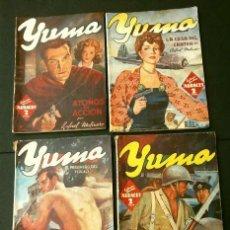 Tebeos: LOTE YUMA 4 NUMEROS (1945) COL. HOMBRES AUDACES, NUEVOS HEROES - ED. MOLINO. Lote 230232130