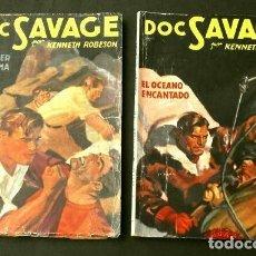 Tebeos: LOTE DOC SAVAGE 2 NUMEROS (1946) COL. HOMBRES AUDACES - ED. MOLINO. Lote 230233800
