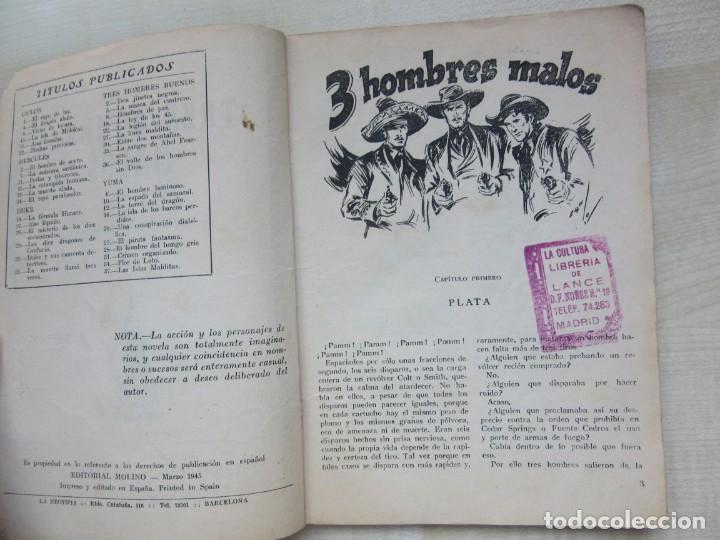 Tebeos: Tres Hombres malos de Amadeo Conde de la serie Tres hombres buenos Ed. Molino 1945 Ver descripción - Foto 3 - 234836005