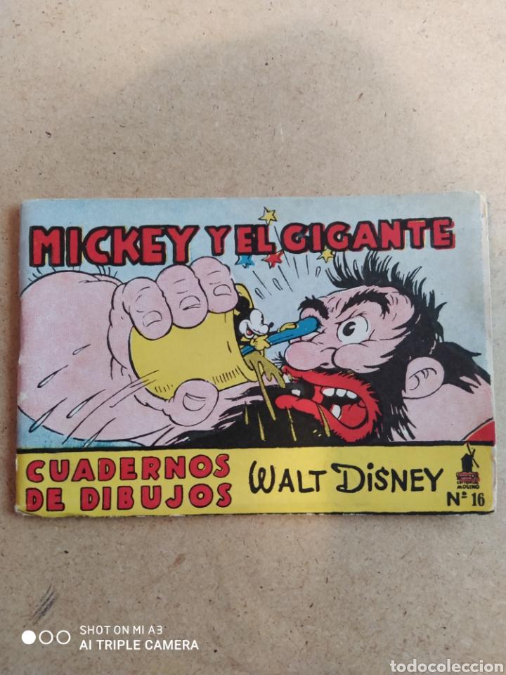 CUADERNOS DE DIBUJOS MICKEY Y EL GIGANTE SIN PINTAR (Tebeos y Comics - Molino)