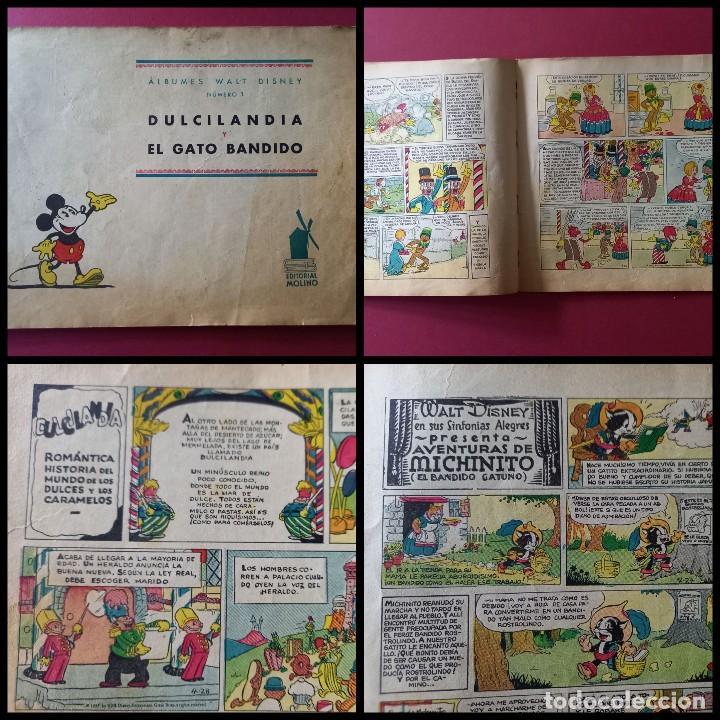 ALBUMES WALT DISNEY Nº 1 -AÑO 1935 -EDITORIAL MOLINO -MEDIDAS :22 X30 CMS (Tebeos y Comics - Molino)