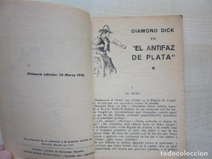 Tebeos: Diamond Dick El antifaz de plata Serie popular Molino1935 - Foto 2 - 275574453