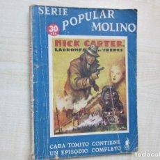 Tebeos: NICK CARTER LADRONES DE TRENES SERIE POPULAR MOLINO 1936. Lote 275575403
