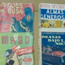 Tebeos: 4 NOVELAS ANTIGUAS DE LOS AÑOS 40. Lote 276418213