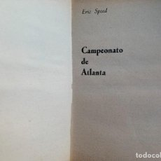 Tebeos: ERIC SPEED, CAMPEONATO DE ATLANTA. EDITORIAL MOLINO. 1.978.. Lote 242864920