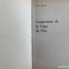 Tebeos: ERIC SPEED, CAMPEONATO DE LA COPA DE ORO. EDITORIAL MOLINO. 1.978.. Lote 267076394