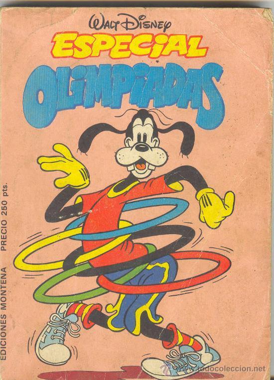 WALT DISNEY ESPECIAL OLIMPIADAS EDICIONES MONTANA 1984 DON PATO MIKI GOOFY (Tebeos y Comics - Montena)