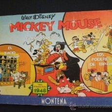 Tebeos: WALT DISNEY - MICKEY MOUSE - TIRAS PERIODISTICAS 1948 - EDIC. LIMITADA Y NUMERADA - MONTENA - . Lote 31412277