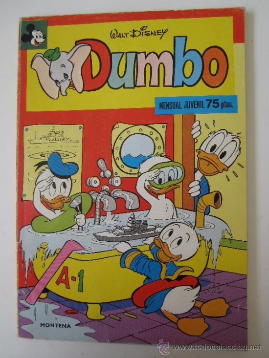 WALT DISNEY - DUMBO , NUMERO 4 - EDITORIAL MONTENA 1978 (Tebeos y Comics - Montena)