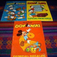 Tebeos: DON MIKI ESPECIAL REGALOS (2) FIN CURSO 1980 (2) VACACIONES 1981 FIN CURSO 1982 MONTENA WALT DISNEY. Lote 40083086