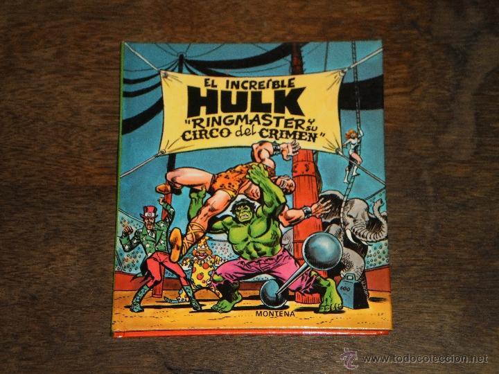 EL INCREIBLE HULK - RINGMASTER Y SU CIRCO DEL CRIMEN - LIBRO DIORAMA – 1982 MARVEL COMICS GROUP (Tebeos y Comics - Montena)