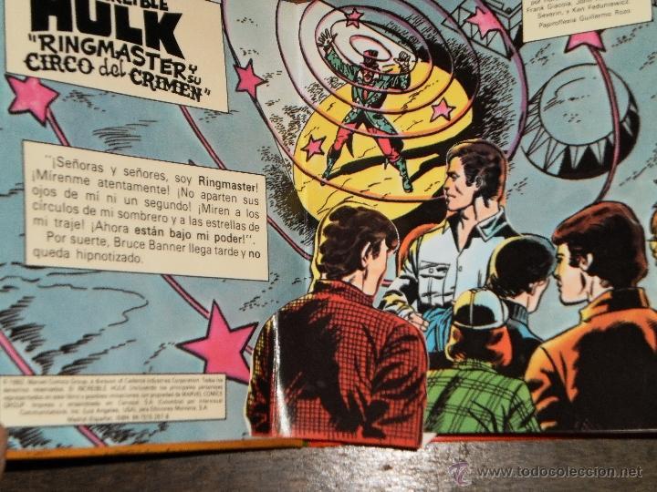 Tebeos: EL INCREIBLE HULK - RINGMASTER y su CIRCO del CRIMEN - Libro Diorama – 1982 Marvel Comics Group - Foto 2 - 40785062
