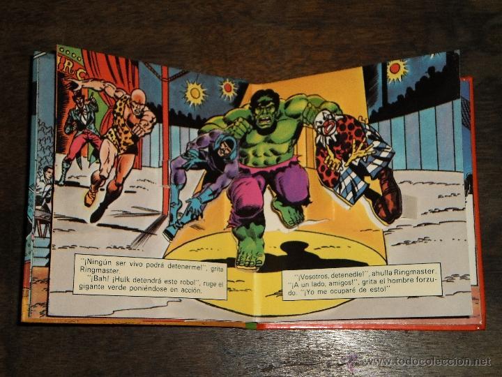 Tebeos: EL INCREIBLE HULK - RINGMASTER y su CIRCO del CRIMEN - Libro Diorama – 1982 Marvel Comics Group - Foto 4 - 40785062