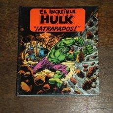 Tebeos: EL INCREIBLE HULK - ATRAPADOS- LIBRO DIORAMA – 1982 MARVEL COMICS GROUP - MONTENA. Lote 40785191
