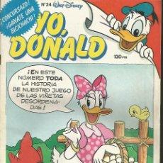 Tebeos: YO, DONALD - Nº 24 - WALT DISNEY - MONTENA 1986. Lote 43366948