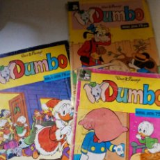 Tebeos: LOTE 3 COMICS DUMBO WALT DISNEY EDIT MONTENA AÑO 1978. Lote 57264411