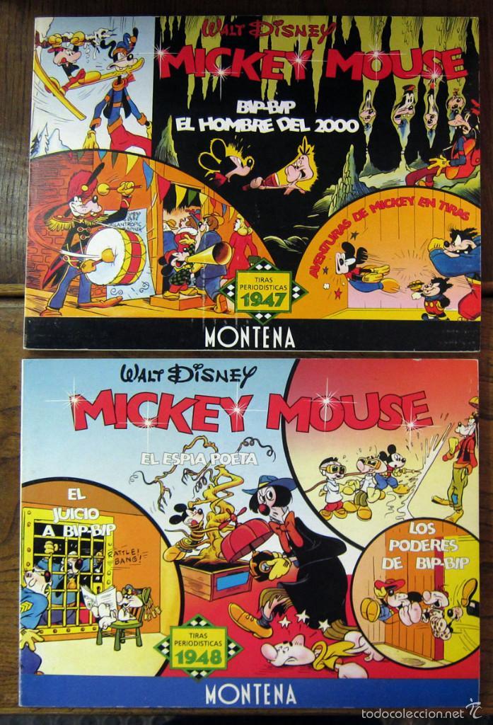 DISNEY - MICKEY MOUSE - TIRAS PERIODISTICAS 1947 Y 1948 - DOS TOMOS - MONTENA 1987 - NUMERADOS (Tebeos y Comics - Montena)