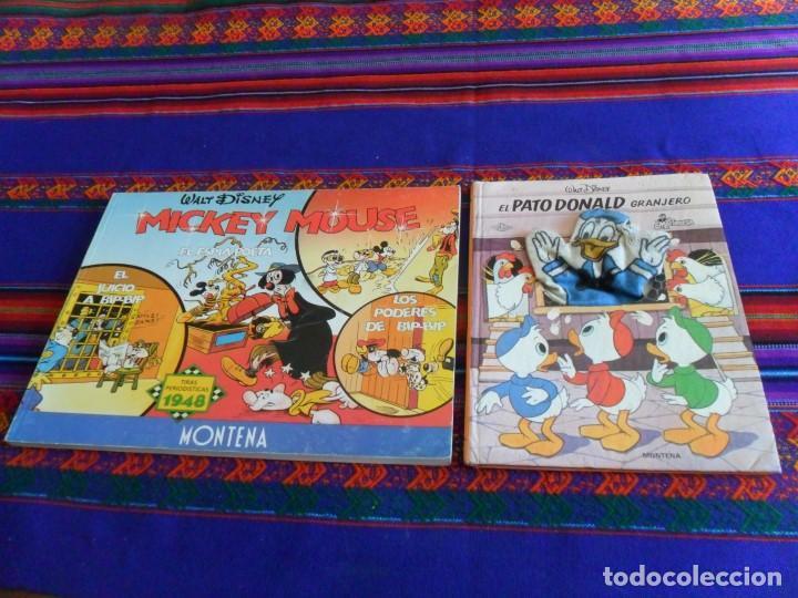 MICKEY MOUSE TIRAS PERIODÍSTICAS 1948, PATO DONALD GRANJERO MARIONETA. (Tebeos y Comics - Montena)