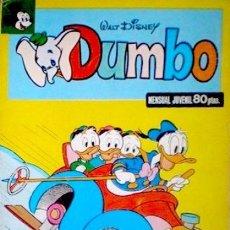 Giornalini: DUMBO-MENSUAL JUVENIL - Nº 21 -TORERO A LA FUERZA- 1980- SOLO CORRECTO-DIFÍCIL- LEAN-8332. Lote 191806247