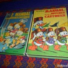 Tebeos: MANUAL DE LOS JÓVENES CASTORES Y 2º MANUAL DE LOS JÓVENES CASTORES. MONTENA 1977. BUEN ESTADO.. Lote 120056339