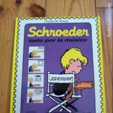 Tebeos: SCHROEDER, TODO POR LA MÚSICA - CHARLES M. SCHULZ - MONTENA - 1987 - PEANUTS SNOOPY D8. Lote 137497150