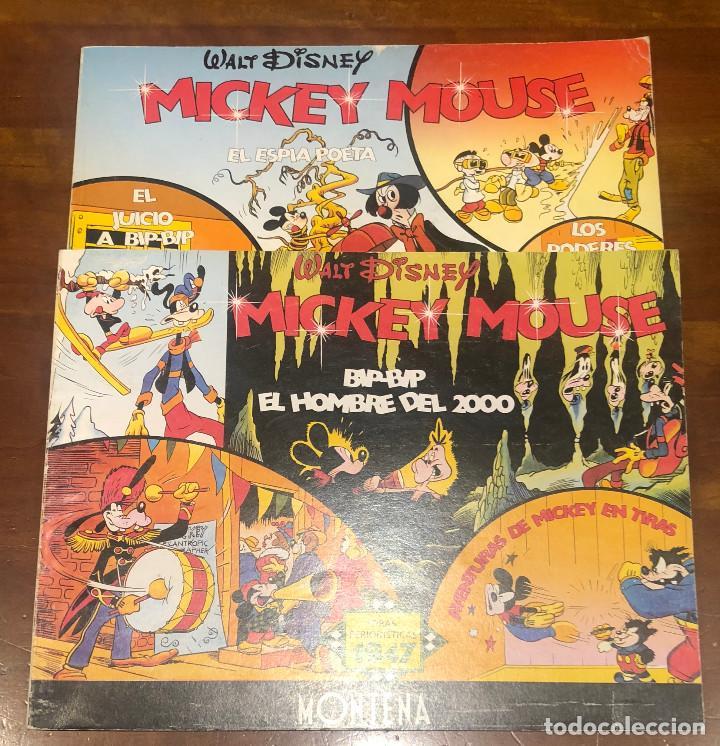 TIRAS PERIODISTICAS MICKEY MOUSE 1947 Y 1948. 2 TOMOS. (Tebeos y Comics - Montena)