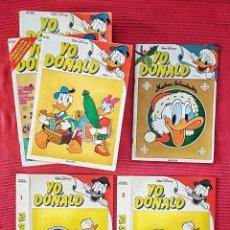 Tebeos: LOTE 29 COMICS YO DONALD WALT DISNEY EDITORIAL MONTENA 1986 + 2 TAPAS PARA ENCUADERNAR.. Lote 179514998