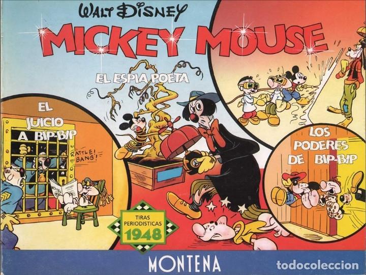 MICKEY MOUSE: TIRAS PERIODÍSTICAS 1948 EL JUICIO A BIP-BIP - EL ESPÍA POETA - LOS PODERES DE BIP-BIP (Tebeos y Comics - Montena)