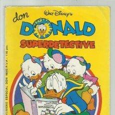 BDs: DON DONALD SUPERDETECTIVE, 1981, MONTENA, BUEN ESTADO. Lote 181955013