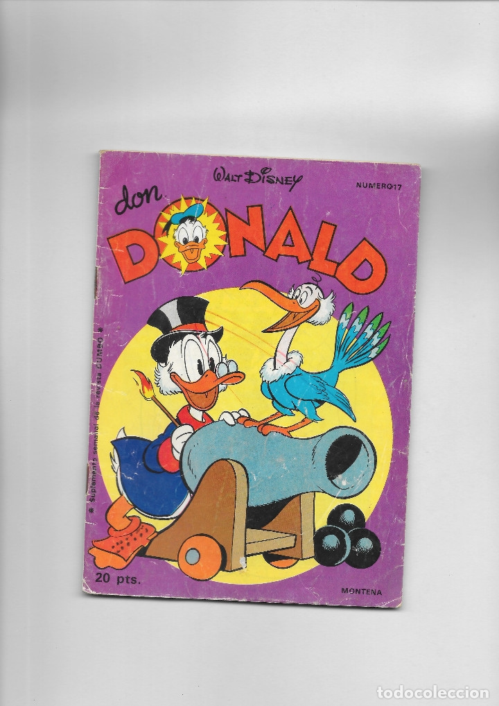 DON DONALD NUMERO 17 (Tebeos y Comics - Montena)