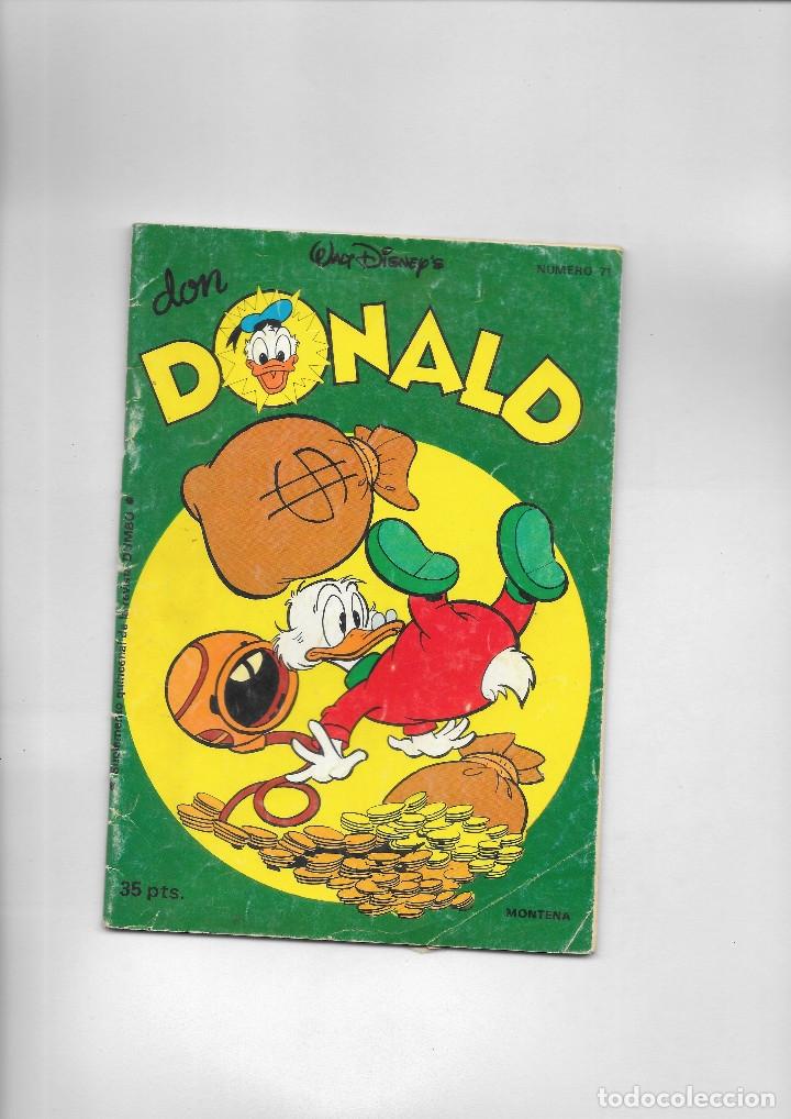 DON DONALD NUMERO 71 (Tebeos y Comics - Montena)