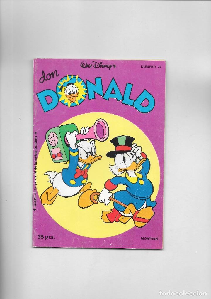 DON DONALD NUMERO 74 (Tebeos y Comics - Montena)