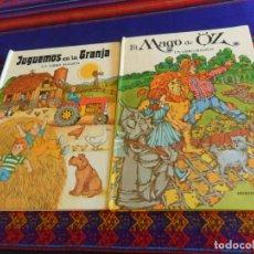 Tebeos: CUENTO POP UP COLECCIÓN LIBROS MÁGICOS EL MAGO DE OZ, JUGUEMOS EN LA GRANJA. MONTENA UN LIBRO MÁGICO. Lote 182669815