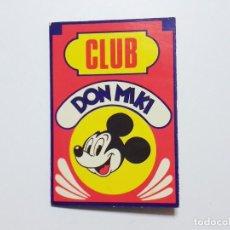 Tebeos: CARNET DE CLUB DON MIKI USADO. Lote 194026972