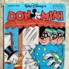 BDs: DON MIKI - SEMANARIO JUVENIL - WALT DISNEY - Nº 524 - MONTENA, 1986 - 90 PESETAS. Lote 219349967
