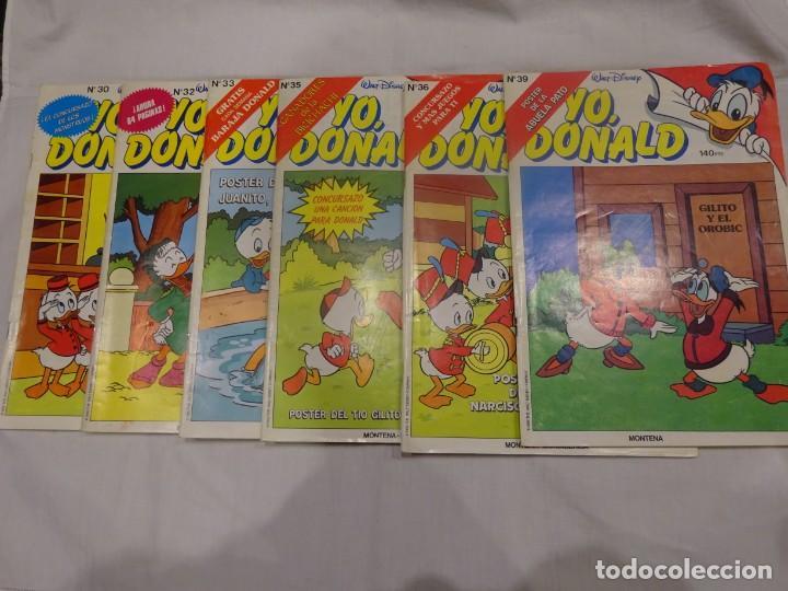 YO DONALD, ED. MONTENA 1.986, 6 NÚMEROS EN BUEN ESTADO. LEER DESCRIPCIÓN (Tebeos y Comics - Montena)