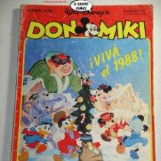 Tebeos: DON MIKI Nº 587, VIVA EL 1988!, ED. MONTENA, DOM. Lote 243311830