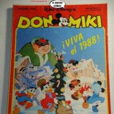 Tebeos: DON MIKI Nº 587, VIVA EL 1988!, ED. MONTENA, DOM. Lote 243311860