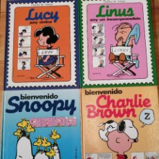 Tebeos: LOTE DE 4 CÓMIC, SNOOPY, CHARLIE BROWN, LUCY LINUX, MONTENA 1987. Lote 245775965