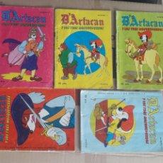 Tebeos: LOTE 5 D'ARTACAN DARTACAN Y LOS 3 TRES MOSQUEPERROS - 7,9,14,16,17 - ED. MONTENA. Lote 247410405