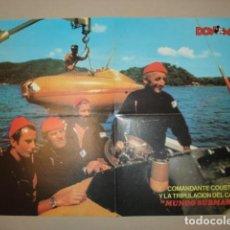 Tebeos: POSTER DON MIKI: COMANDANTE COUSTEAU (MUNDO SUBMARINO), MUY BUEN ESTADO. Lote 296738578